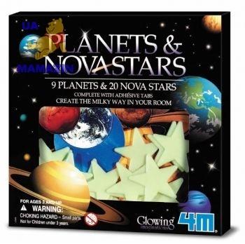 Звезды и планеты 20 шт. (светятся) ТМ 4M