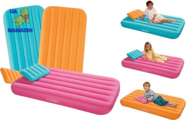 Intex: Надувной матрас комфортный детский, 157х88х18см,