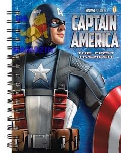 """Блокнот спираль """"Капитан Америка"""""""