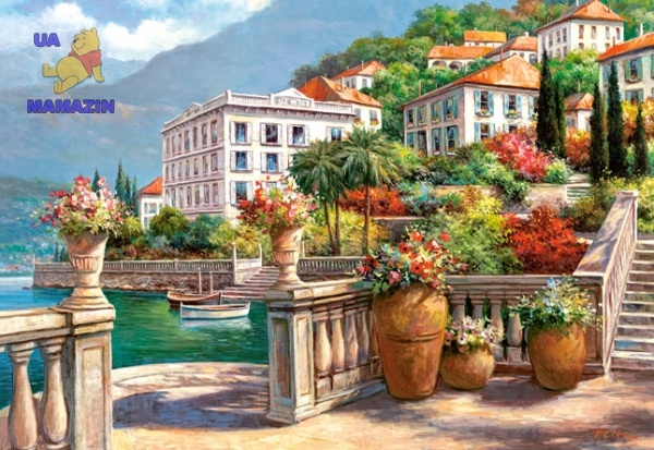 """Пазлы Castorland Copy of """"A Peaceful Oasis on the Lake Como"""" 2000 эл."""