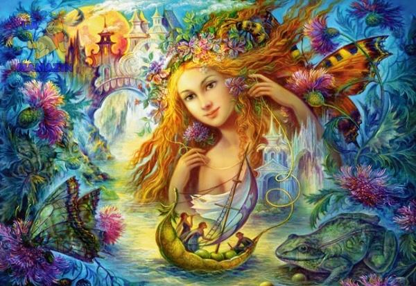 "Пазлы Castorland Copy of ""Water Faery"", Nadia Strelkina 2000 эл."