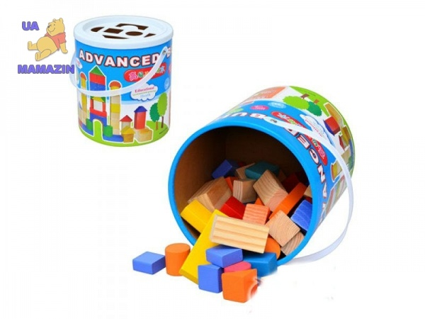 Деревянная игрушка Городок 50 деталей