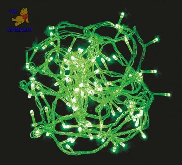 Гирлянда елочная светодиодная, зеленая