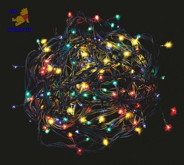 Гирлянда елочная светодиодная, многоцветная