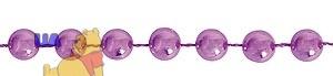 Бусы новогодние светло-фиолетовые