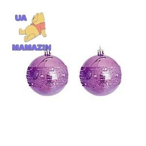 Шар d-8 см, 2шт/уп, фиолетовый