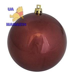 Шар d-10 см коричневый глянец