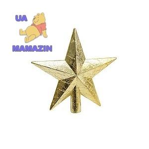 """Верхушка """"Звезда"""" 20 см , золотая"""
