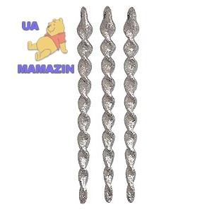 Сосулька 13 см, 6шт/уп, серебро
