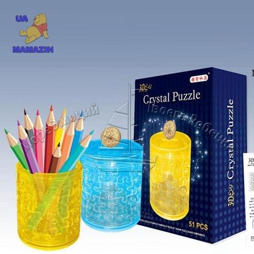 Пазл 3Д кристалл Копилка-стакан для карандашей