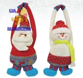 Подвеска Дед Мороз, Снеговик 27см ( 2 вида в асс.)