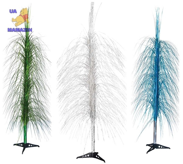 Фонтан-каскад 150 см, в ассортименте 3 вида: серебряный, синий, зеленый