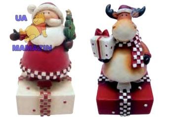 "Сувенир ""Дед Мороз , Олень"", 8см (2 вида в асс.)"