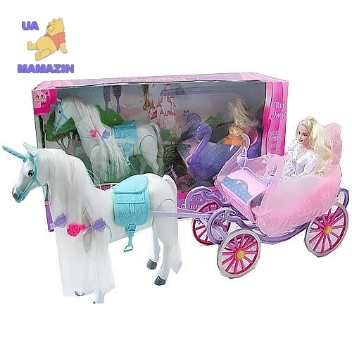 Игровой набор кукла с каретой