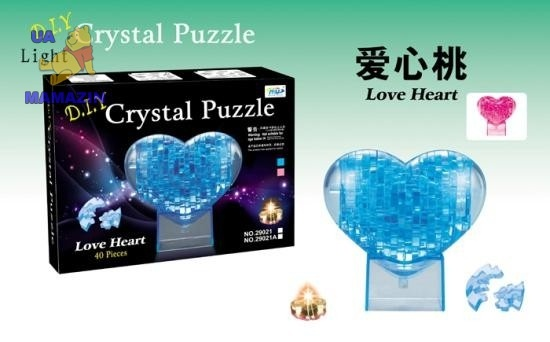 """Пазлы 3D- кристалл """"Сердце"""""""