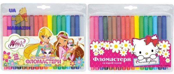Фломастеры 18 цв. для девочки