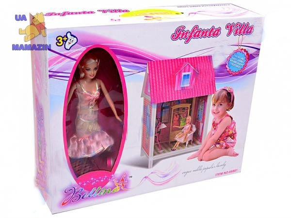 Дом с аксессуарами, с куклой, 1 комната