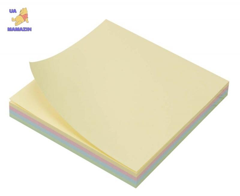 Бумага с липким слоем 75х 75мм 4-цветн., 100л