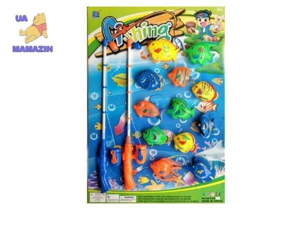 Рыбалка, 2 удочки, 12 рыбок