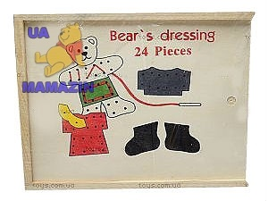 Шнуровка Мишка-одевалка