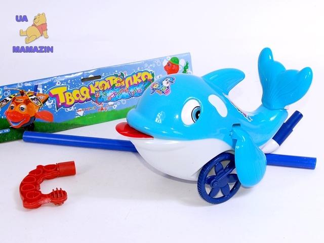 "Каталка на палочке ""Дельфин"""