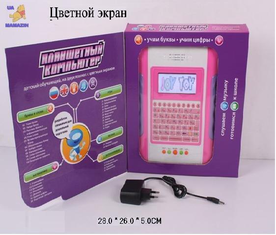 Планшет  с цветным экраном русско-английский