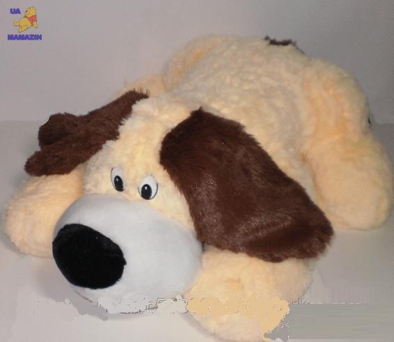 """Собачка """"Макс"""" лежачий (коричневый)72см"""