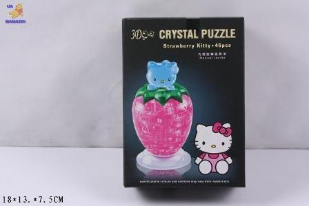 "Пазлы 3D кристалл ""Клубничка Кити"""