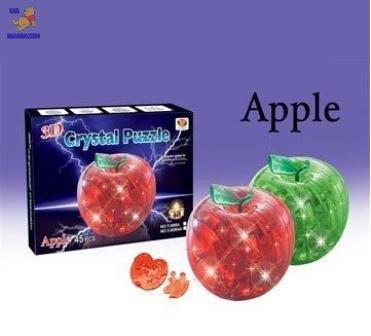 "Пазлы 3D- кристалл ""Яблоко"" со светом"