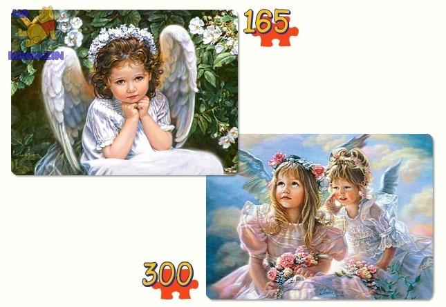 """Castorland: Пазлы 2х1 """"Милые Ангелы"""""""