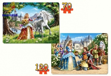 "Castorland: Пазлы 2х1 ""Прелестные принцессы"""