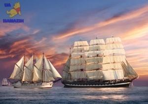 Castorland: Пазлы 500 элементов Корабли на закате