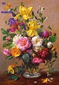 "Castorland: пазл ""Летние цветы в стеклянной вазе"" 1500 эл."
