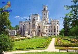 """Castorland: пазл Замок """"Hluboka"""", Чехия 1000 эл."""