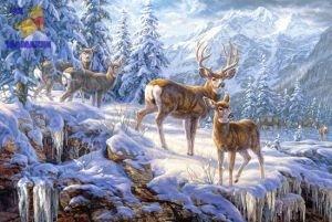 """Пазл 1000 """"Свет в зимних горах"""""""