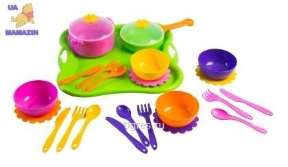 Тигрес. Набор игрушечной посуды столовый Ромашка 25 элементов