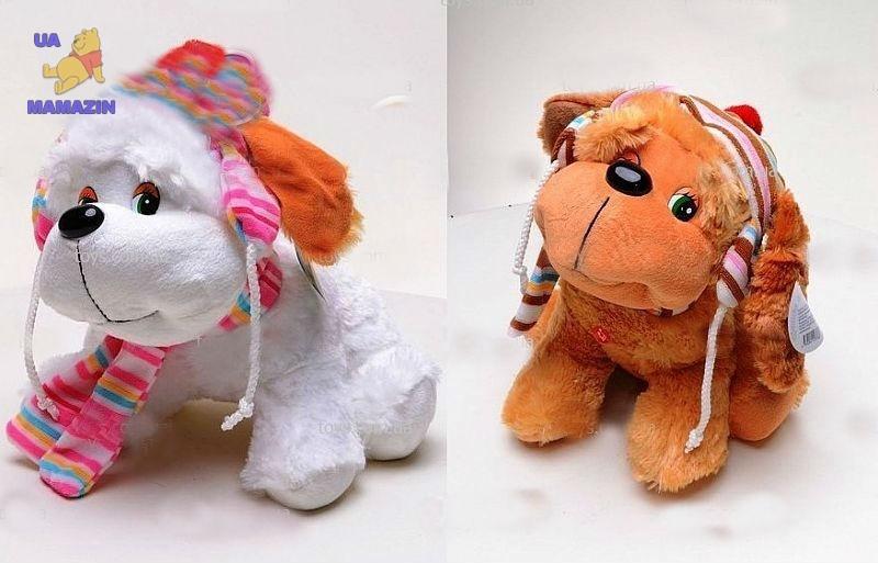 Собака сидячая с шарфом 29 см