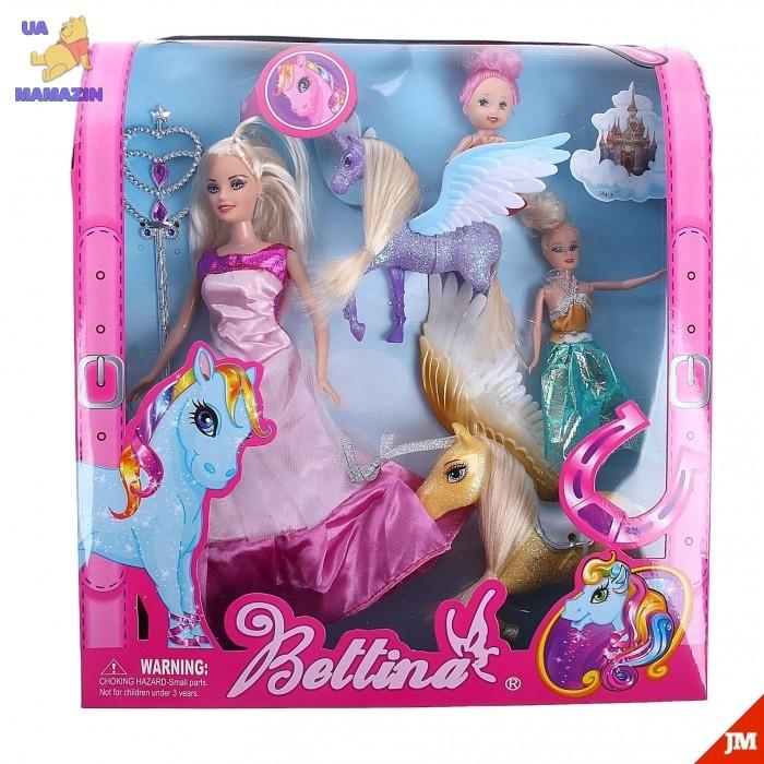 """Набор кукол """"Семья"""" с лошадками"""