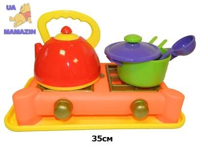Набор посуды 5 предметов с плитой Юника