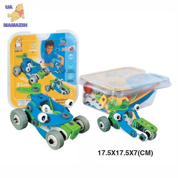 Конструктор пластиковый (2 модели машин)
