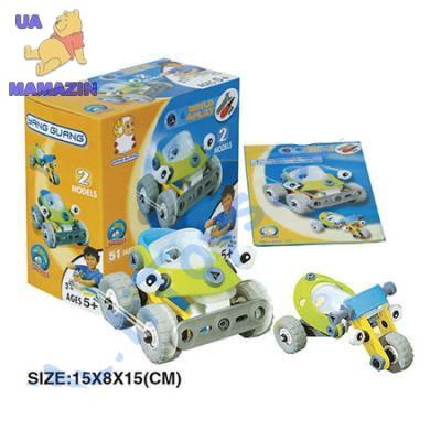 Конструктор пластиковый (2 модели машин) в коробке