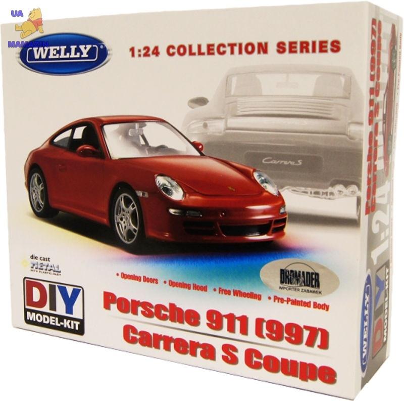 Сборная модель машинка металл 1:24 Porsche 911(997) Carrera S. Coupe