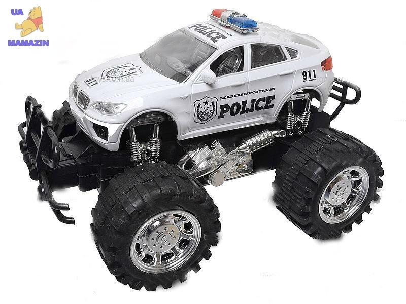 """Машина инерционная """"Полиция"""", с большими колесами"""