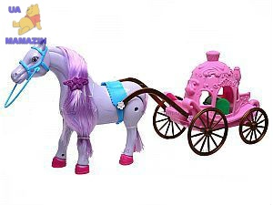 Лошадь с каретой для Золушки