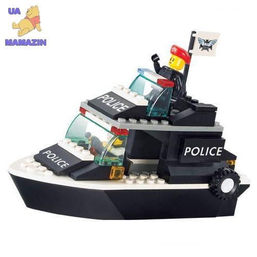 Конструктор SLUBAN  катер, полиция