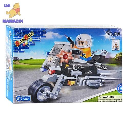 Конструктор BANBAO полицейский мотоцикл