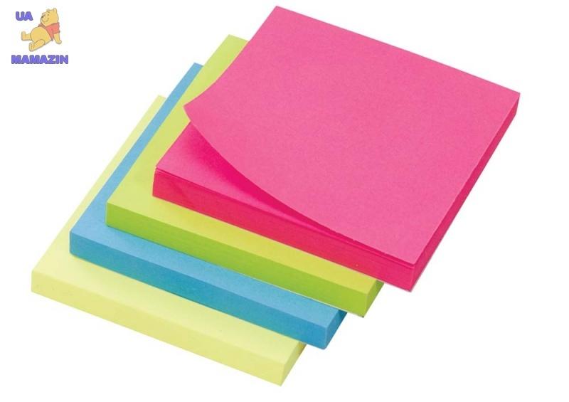 Бумага с липким слоем неоновая зеленая