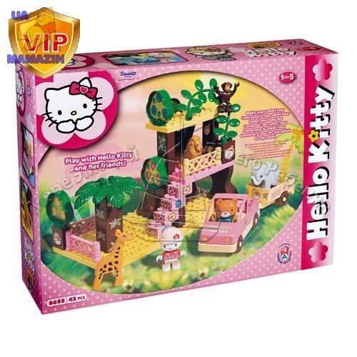Конструктор Hello Kitty Домик в джунглях, 42 детали