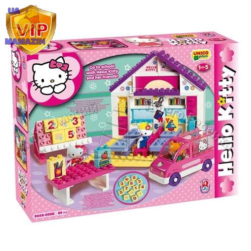 Конструктор 8668-00 Hello Kitty Школа, 89 деталей