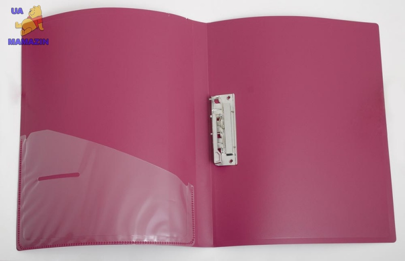 Папка с боковым зажимом и карманом A4 D1804-03 бордовая